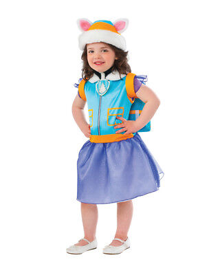 Child's Girl's Paw Patrol Everest Dress Hat And Pup Pack Toddler 2-4 Costume - Infant Toddler Costumes