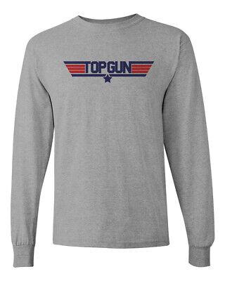 Top Gun Custome (Top Gun Custom Heavy Cotton Long Sleeve T-shirt Tee Brand New)