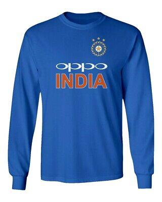 Long Sleeve Cricket - Cricket India Jersey Style Cricket New Oppo Fans Men's Long Sleeve T-Shirt