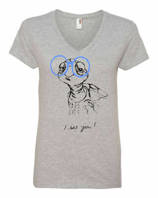 Turtle glasses t shirt funny geeky glasses vneck tshirt geeky gift (Funny Glasses T-shirt)