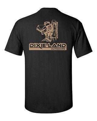 Dixie Tee Shirts - Dixie Land Outdoors Bowhunter hunting tshirt treestand compound bow broadhead