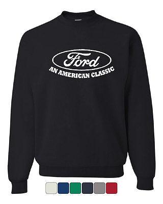 Classic Crewneck Sweatshirt - Ford An American Classic Crew Neck Sweatshirt Ford Truck Licensed
