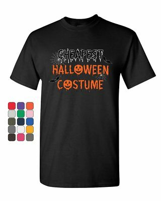 Cheapest Halloween Costume T-Shirt Funny Spooky Trick or Treat Mens Tee Shirt - Halloween Costumes Cheapest