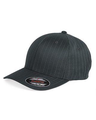 Flex Fit Pinstripe Hat - 6195P Flexfit Pinstripe Fitted Baseball Blank Plain Hat Ballcap Cap Flex Fit