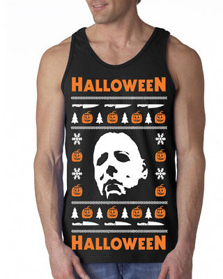 Top Halloween Horror Movies (650 Halloween Tank Top Ugly christmas sweater slasher costume horror movie)