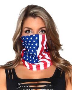 USA America Flag Bandanna Head Wear American Bandana Bands Scarf Neck Wrap uk