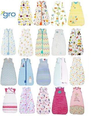 Grobag baby sleeping bag 0 -6 6 -18 or 18- 36 months 1.0 tog various designs 1