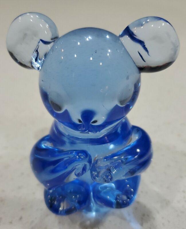 United States Commemorative Fine Art Gallery Koala Bear Blue Art Glass Figurine
