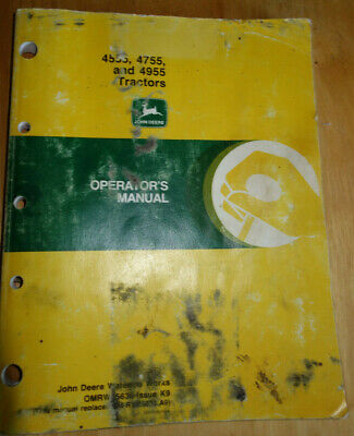 Oem Genuine John Deere 4555 4755 4955 Tractor Operators Owners Manual