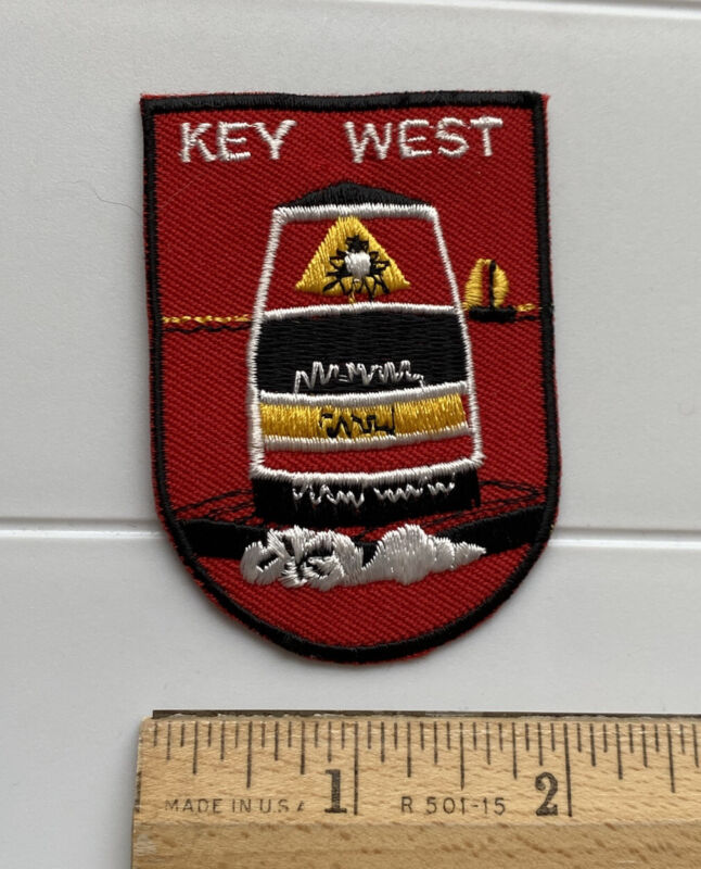 Southernmost Point Buoy Key West Florida Keys FL Red Embroidered Patch Badge