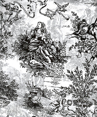 Black French Toile Tissue Paper #555 ~ 10 Large Sheets