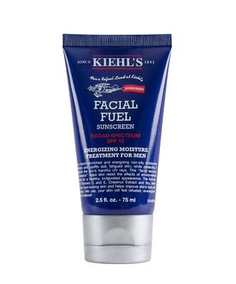 Kiehls Facial Fuel Sunscreen Broad Spectrum SPF15 Energizing Moisture 2.5oz NEW