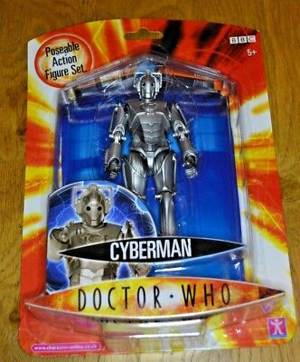 Modern Vintage Dr Who Action Figure Cyberman Poseable Series 1; Factory Sealed