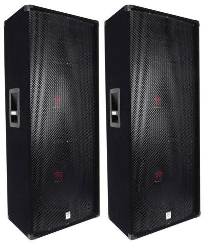 "Rockville RSG15.24 Dual 15"" 3000 Watt 3-Way 4-Ohm Passive DJ / PA Speaker"
