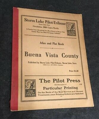 The Buena Vista County Atlas Plat Book (MAPS)  1915 / Only 3000 Copies Very Good
