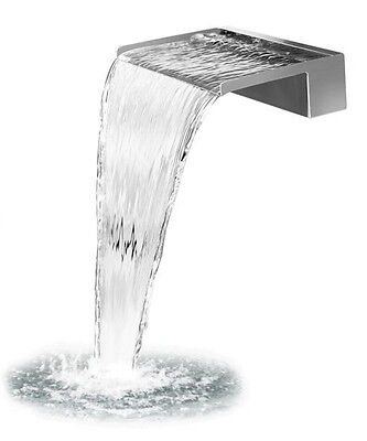 Waterfall Stainless Steel 30 Cm with Led Lighting, Wasserspiel. 2 Ports