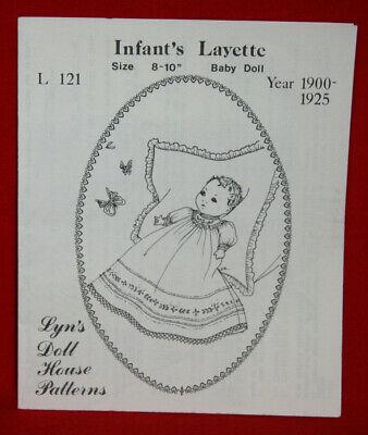 "Lyn's Doll House 1900-'25 Infant Layette Pattern: 8 -10"" Doll - L121 UNCUT (52)"