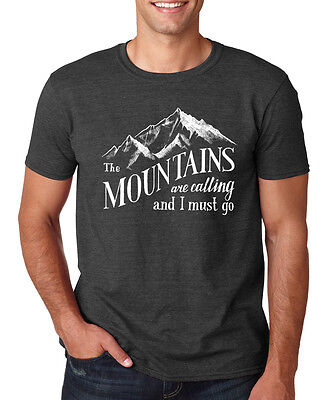 The Mountains Are Calling I Must Go Outdoors Camping Hiking Vacation T Shirt