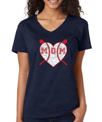 Baseball Heart Mom cute baseball season little league Women