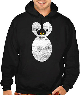 Men's Cute Cartoon Penguin Black Hoodie Adorable Funny Animals Novelty Sweater - Penguin Hoodie