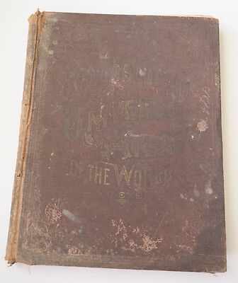 1892 Rand McNally Universal Atlas of the World Indexed