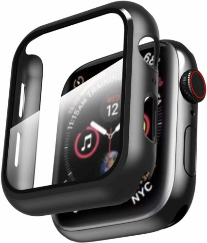 For Apple Watch Series 6 5 4 SE 38/40/42/44mm Full Cover Case +Screen Protector