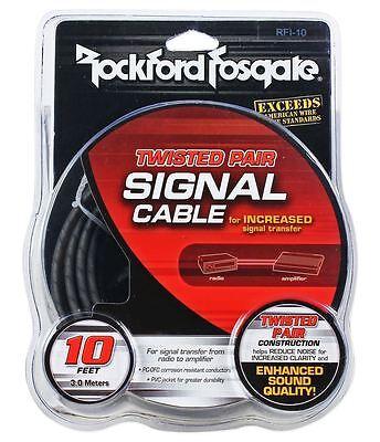 Rockford Fosgate RFI-10 RFI10 10 Foot Twisted Pair OFC Car Audio RCA Cable