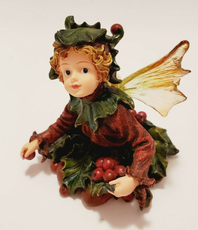 """Boyds Bears """"Holly Faerieberry Holiday Gathering"""" Wee Folkstones #36014 1E"""