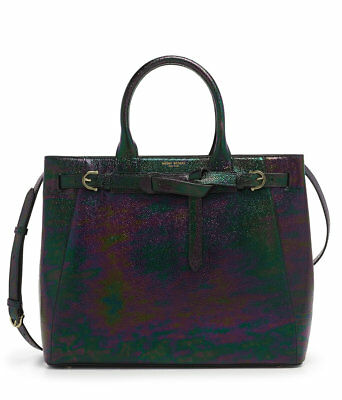 HENRI BENDEL PETROL OILSLICK LARGE BELMONT TOTE BAG  NEW NWT for sale  Shipping to India
