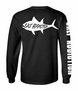 Salt addiction long sleeve fishing t shirt saltwater for Custom saltwater fishing shirts