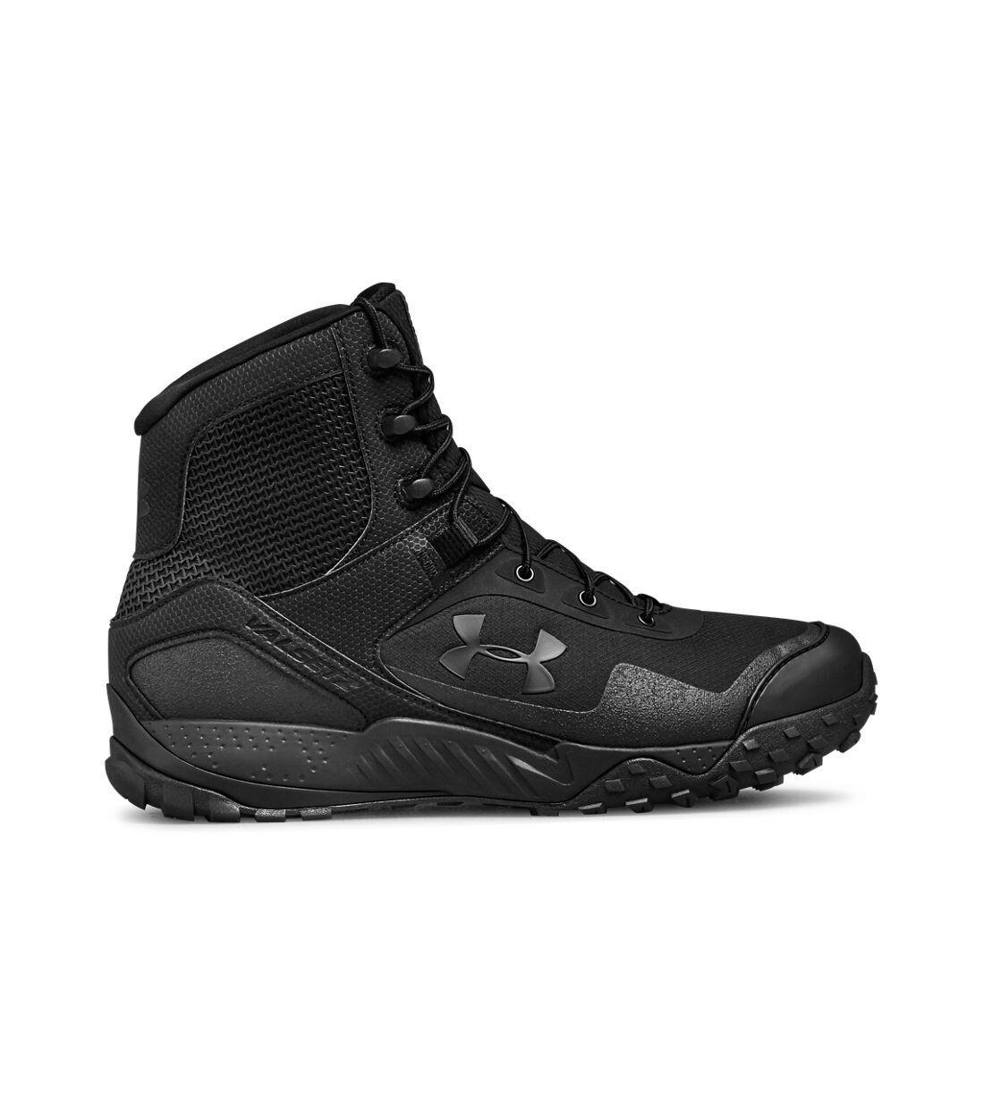 Under Armour Men's Valsetz RTS  Side Zip Tactical Boots Blac