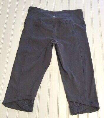 Athleta Women's Charcoal Gray Capri Length Athletic Yoga Pants Size Medium
