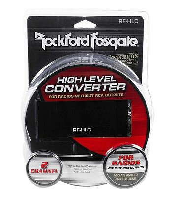 Rockford Fosgate RF-HLC Universal 2-Channel Hi-Lo Line Output Signal Converter
