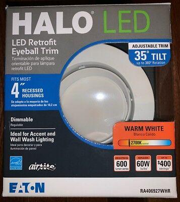 Eaton Halo LED Recessed Light Retrofit Eyeball Trim Dimmable 2700k 35° Tilt 4