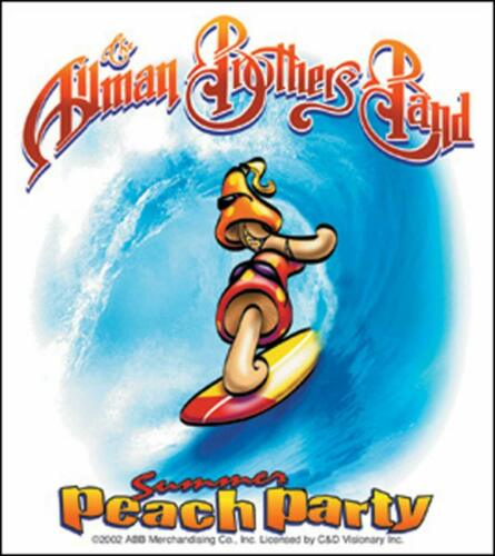 STICKER Allman Brothers Peach Party Decal  -  Officially Licensed  B141