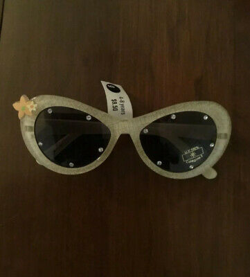 NWT Gymboree WILDFLOWER FIELDS Line Sunglasses Tan Tropical 4-8 Years Vtg (Sunglasses Tan Line)