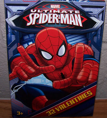 Valentines Day Cards (Box of 32) Marvel Ultimate Spider-Man