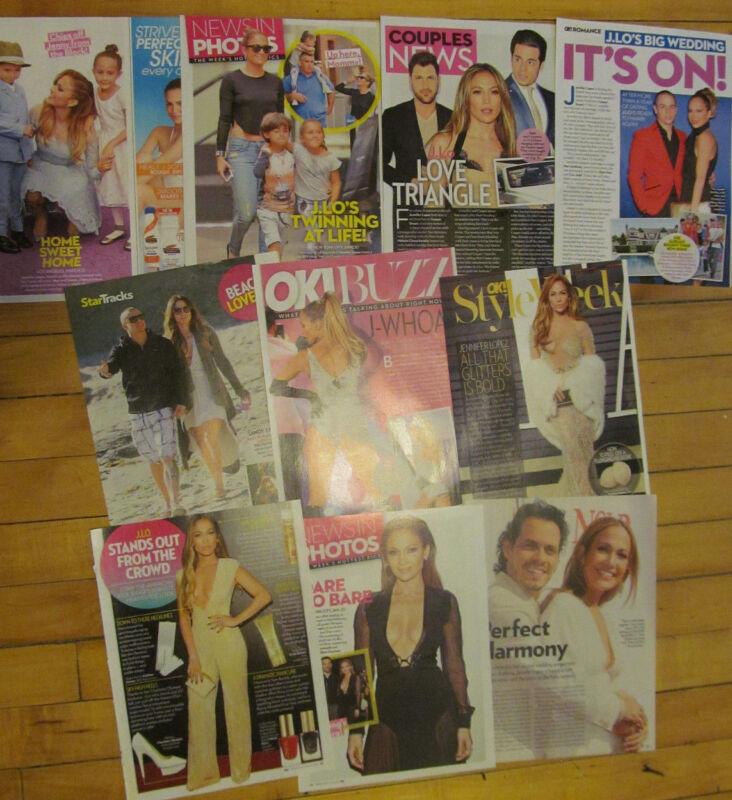 Jennifer Lopez, Lot of Ten Full Page Clippings, #2
