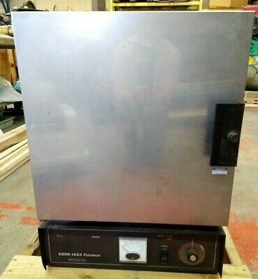 Kerr 14 X 3 Electric Burnout Furnace 20 Amps 240 Volts Single Phase Max. Temp