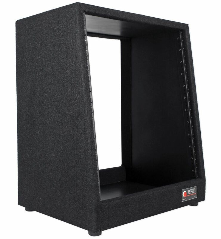 Odyssey CRS12 12U Carpeted Live Sound Studio Rack w/ Angled Face/Open Back