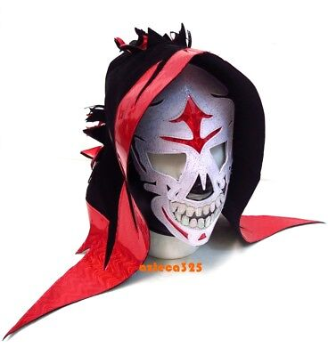 LA PARKA Adult Lucha Libre Wrestling Mask (pro-fit) Costume Wear Red-Black](Wrestling Costumes Adults)