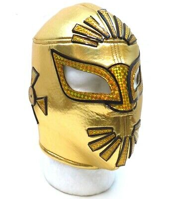 Sin Cara Mistico Adult Lucha Libre Wrestling Mask (Pro-fit) Costume Wear -Gold](Wrestling Costumes Adults)