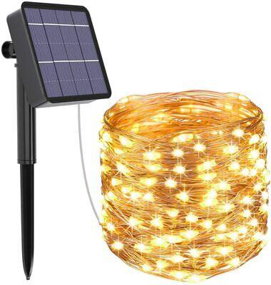 Guirnalda Luces Exterior Solar, Kolpop Cadena de Luces 26 Metros 240 LED,...