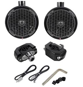 ROCKFORD-FOSGATE-M282B-WAKE-BLACK-8-Wakeboard-Tower-Speaker-Black-Pair-New