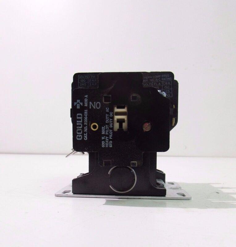 GOULD WESTMINSTER 2200 EB230EA CONTACTOR 3 POLES 600V MAC **XLNT**