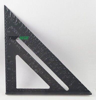 "Aluminum Alloy Speed Square 7"" Combination Carpenter's Protractor Miter Framing"