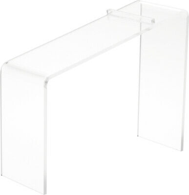 Plymor Clear Acrylic Elevated Heel Shoe Display Riser 3 W X 9d X 7h 2 Pack