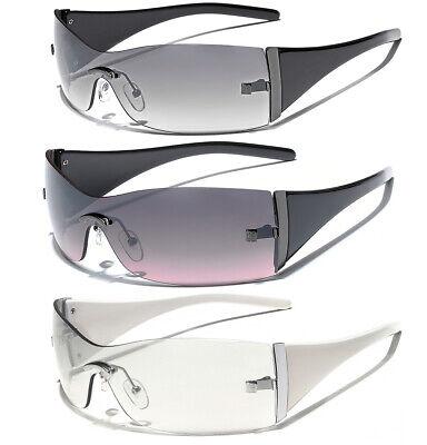 Rimless Rectangular Shield Lens Sunglasses Women's Fashion UV Protection (Women S Shield Sunglasses)