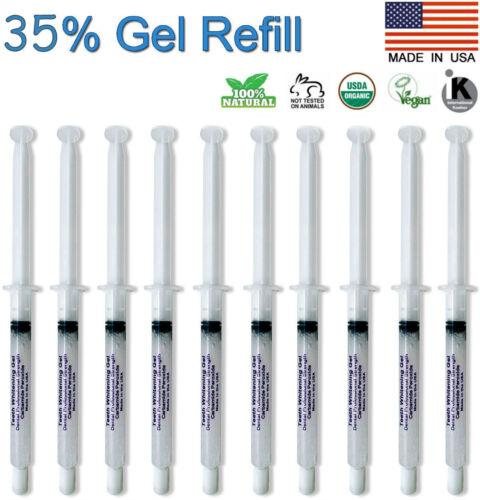 Teeth Whitening Gel 35% Syringes Tooth Bleaching Peroxide Dental Whitener 10pcs