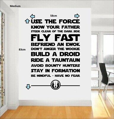 STAR WARS USE THE FORCE Vinyl Wall Art Quote Sticker/Decal room sci-fi movie